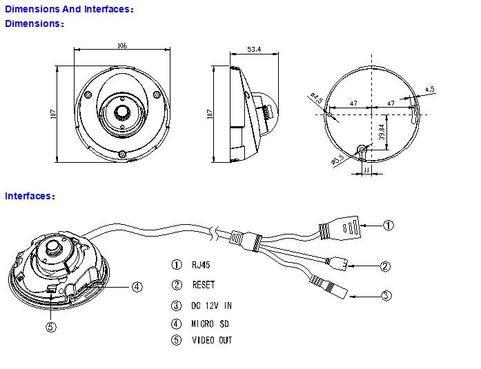 2.0 Megapixel Sony Exmor 1080P Full HD Vandal Proof Camera Mini Dome IP Demension