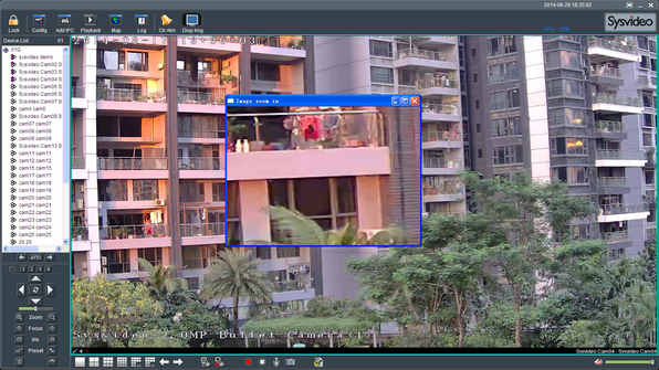 Sysvideo SC6000 Series IP Camera Management Software XCenter UI: Digital Zoom